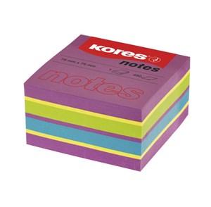 Obrázek Samolepicí bloček Kores Cubo Spring - 75 x 75 mm / 450 lístků