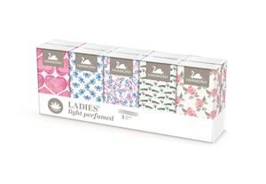 Obrázek Kapesníčky papírové Harmony - třívrstvé Ladies / 10 x 10 ks