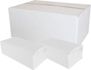 Obrázek Ručníky papírové skládané Z-Z PrimaSOFT  - ručníky bílé / dvouvrstvé / 150 ks
